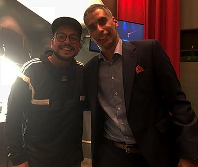 Mehdi Bousaidan et Dr Éric Lacoste