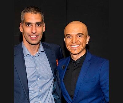 Dr Éric Lacoste et Rachid Badouri