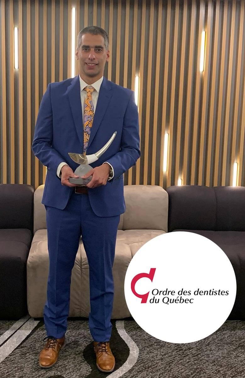 Dr.Lacoste- Prix Ordre des Dentistes du QC- 11/2019